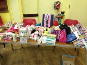 Toiletries donated by members